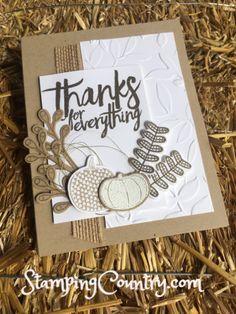 Pick a Pumpkin Stampin' Up!, Handmade Card, Autumn