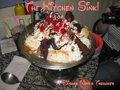 The kitchen Sink Dessert served only at Beaches and Cream in the Yacht and Beach Club Resort at Walt Disney World