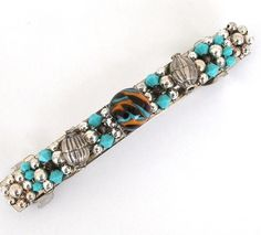 Crystal And Lampwork Bead Barrette