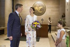 The royal couple met Mia while attendingan opening ceremony for their US visit