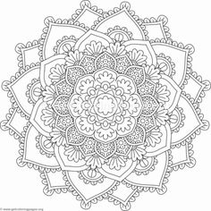 Flower Mandala Coloring Pages #527