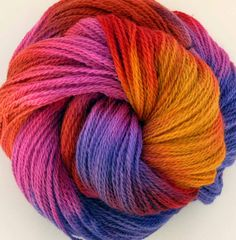 Hand Dyed Wool Lace Yarn- Starburst by FiberFusion on @Etsy