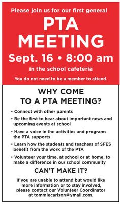 Love the explanation of why it's worth going to a PTA meeting!