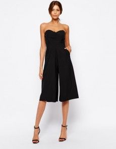 Search for culottes at ASOS. Shop from over styles, including culottes. Discover the latest women's and men's fashion online Black Romper, Black Jumpsuit, Latest Outfits, Fashion Outfits, Latest Clothes, Jumpsuit Images, Designer Jumpsuits, Tfnc, Overall