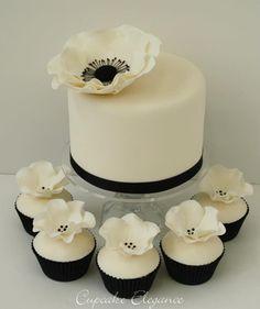 Black, White Cake & Cupcakes