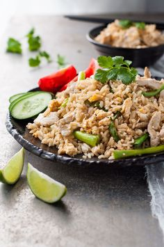 An authentic recipe for Thai Fried Rice. Super easy and you can make it with ingredients you can get from the supermarket!