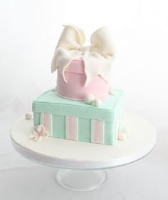 Happy Birthday Shiney: Time for Some Birthday Cakes. Hat Box Cake, Gift Box Cakes, Pretty Cakes, Cute Cakes, Beautiful Cakes, Birthday Cake Pictures, Birthday Cakes, Happy Birthday, Present Cake