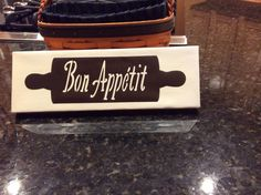 Bon Appetit canvas sign I made for my mom's kitchen