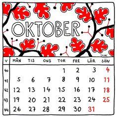October 2015. Calendar illustration by Jytte Hviid.