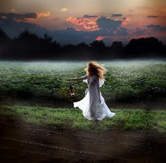 the wind and the earth urged her to run and she did not quarrel