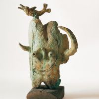 363Tête et oiseau (Head and Bird) 1981  Bronze (lost wax casting). Fundició Parellada, Barcelona