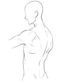 【描き方とポーズ集】男の背中を描く [3]