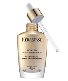 Kérastase Initialiste: A rich treatment for the scalp, this serum promotes thicker, more lustrous hair, starting at the roots. Three times a week, massage in a few drops after shampooing and towel-drying hair.