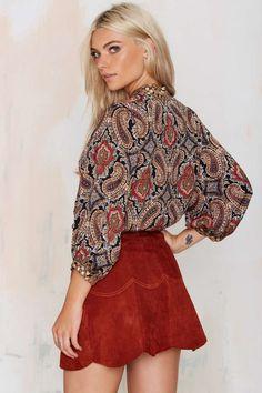 Native Rose Silk Road Paisley Top - Shirts + Blouses