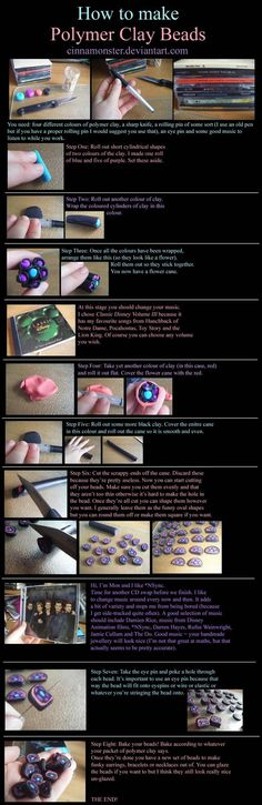 Polymer Clay Beads Tutorial by ~Cinnamonster