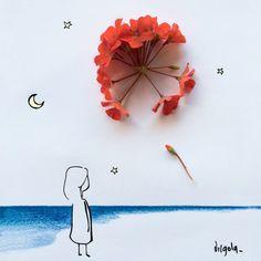 Un fiore rosso è un fuoco d'artificio Virgola by Virginia Di Giorgio