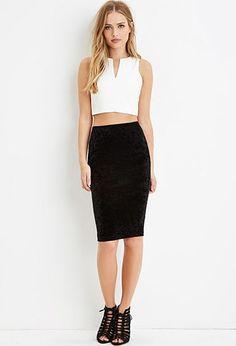 e0dcde860429 Crushed Velvet Bodycon Skirt