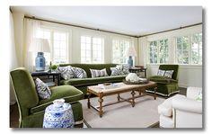 Garrow Kedigian - love the simplicity of the green sofa - very Brady Bunch.