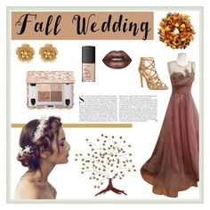 """Fall Wedding"" by fabulous-designs ❤ liked on Polyvore featuring Dorothy Perkins, Improvements, Miriam Haskell, NARS Cosmetics, Southern Enterprises, Lime Crime, Kershaw and fallwedding"