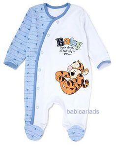 Disney Tigger baby boy sleepsuit NB 0 3 6 9 12 18 months | eBay