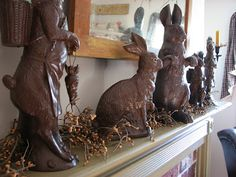 Love the faux chocolate bunnies!