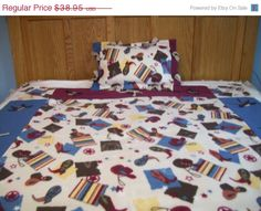 On Sale  SAVE 25 Cowboy Print Childs Fleece by NorthwoodsNiche, $29.21