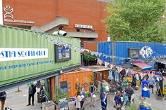 Pop Brixton, London SW9, a pop up community of businesses, where you can buy food, drink and gifts