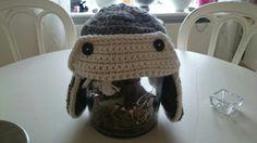 Crochet aviator winter hat