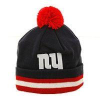 New York Giants KE29z Knit Beanie by Mitchell and Ness