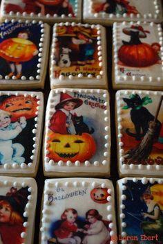 Vintage Halloween Cookies