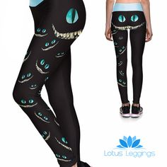 WE'RE ALL MAD HERE ATHLETIC LEGGINGS