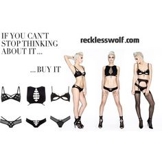 Reckless Wolf | Designer Luxury Lingerie & Womenswear by recklesswolfuk on Polyvore featuring moda