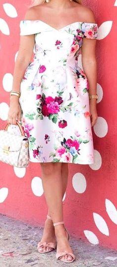 #summer #outfits flower print dress