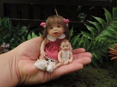 """ODESSA"" mini 4.5""polymer clay baby art doll sculpt OOAK by URSULA"