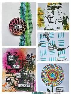 Cards created with Stampendous Signature n*Studio stamp lines