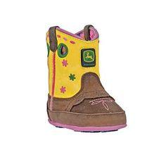 John Deere® Infant's Johnny Popper Western Crib Boots