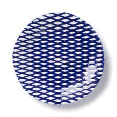 VIETRI - 'Net & Stripe' Collection - Net Dinner Plate | Plum Pudding Gourmet Kitchen Store