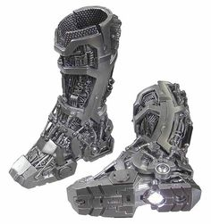 Iron Man: Tony Stark Mech Test - Mech Boots w/ Lights (See Note) - Toy Anxiety Marvel Dc, Marvel Heroes, Iron Man Suit, Iron Man Armor, Combat Armor, Combat Boots, Armor Boots, Man Boots, Cyberpunk