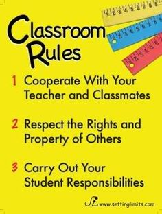 Solid rules help any classroom run smoothly