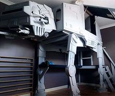 Whether storming the battle of Hoth or getting a good night's sleep, you're likely to find yourself in the Stars Wars AT-AT bunk bed. This bunk bed's original...