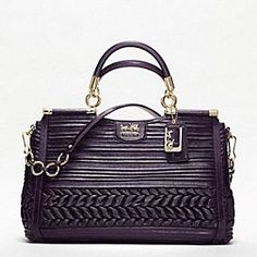 MADISON PLEATED GATHERED LEATHER CAROLINE<--Notice the name! It's like we were made for each other!!! :)