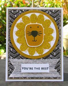 Krystal's Cards: Stampin' Up! Playful Pals De Leeuw #stampinup #krystals_deleeuw #playfulpals #onlinecardclass