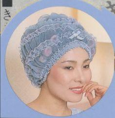joli bonnet bleu Sleep Roller, Roller Set, Asian Perm, Hair Bonnet, Bobe, Hair Nets, Lace Hair, Filets, Curlers