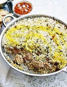 Try this summer lamb and dill biryani recipe. Make this easy lamb recipe using lamb neck for lamb recipes. This biryani recipe with lamb is easy to make Recipes Using Lamb, Easy Lamb Recipes, Rice Recipes, Indian Food Recipes, Dinner Recipes, Cooking Recipes, Savoury Recipes, Curry Recipes, Aussies