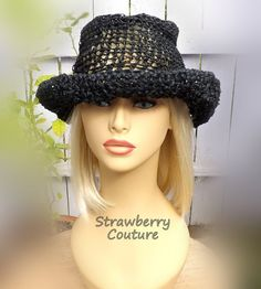 Crochet Sun Hat Floppy Sun Hat Floppy Hat Womens Crochet Hat Womens Hat Trendy Hemp Hat Wide Brim Hat Wide Brim Black Hat MONCHERIE by strawberrycouture  via Crochet Sun Hat Floppy Sun Hat Floppy Hat Womens Crochet Hat Womens Hat Trendy Hemp Hat Wide Brim Hat Wide Brim Black Hat MONCHERIE by strawberrycouture Etsy Shop for strawberrycouture ift.tt/2mBkPoC  http://ift.tt/2mFENPu