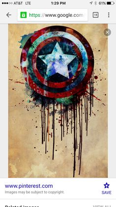 Wet paint captain America shield