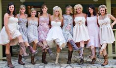 rustic wedding dresses with boots | Ideas of the Western-Themed Wedding Cakes | WeddingElation