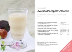 #Kuvings #Smoothie #Juice #Recipe - #Avocado #Pineapple Smoothie with Whole Slow…