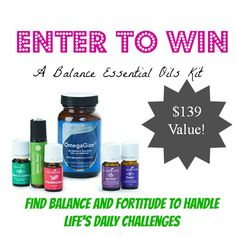 Enter to win: A Balance Essential Oils Kit