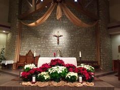 St. Joan of Arc Catholic Church, Powell OH. Christmas decorations, 2014.